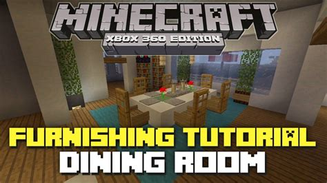 Dining Room Table Minecraft Minecraft Xbox 360 Furniture Tutorial And Ideas Dining