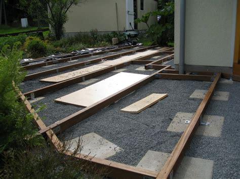 terrasse unterkonstruktion gallery of bauen dekor terrasse unterkonstruktion