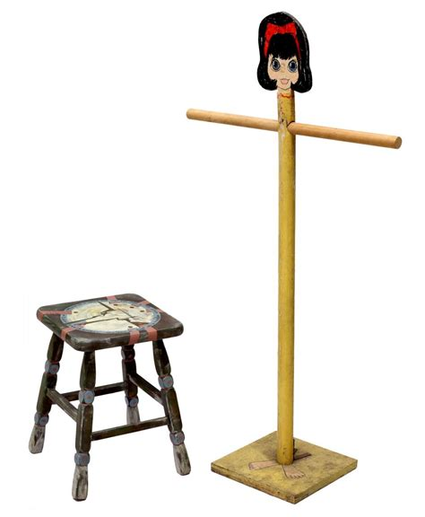 2 painted furniture coat rack stool the