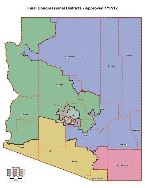 congressional districts map redistricting in arizona ballotpedia