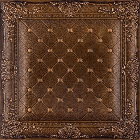 Ceiling Tile Wall by Dct Lrt03 Faux Leather Ceiling Tile Vintage Gold