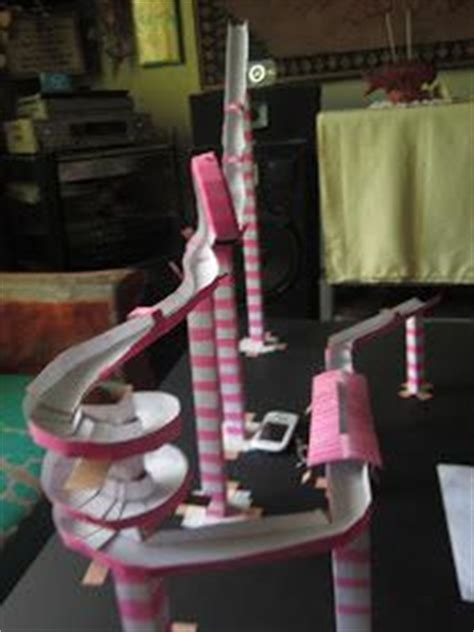 Handmade Science Models - 1000 images about paper rollercoasters on