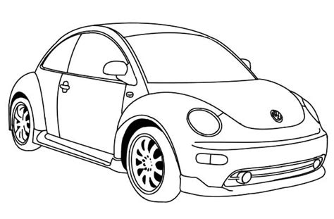 volkswagen beetle sketch beetle car drawing