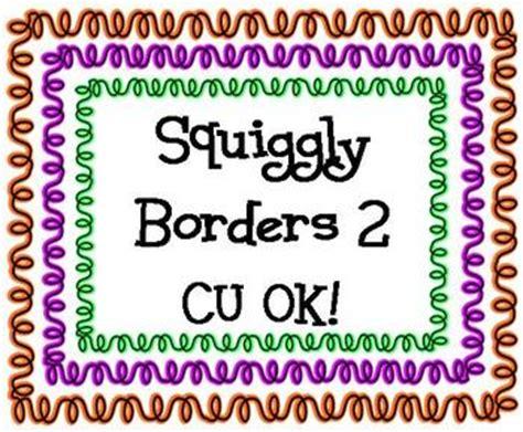 squiggly border   clip art  clip