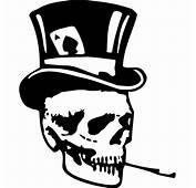 Skull Top Hat Decal Sticker  SKULL TOP HAT