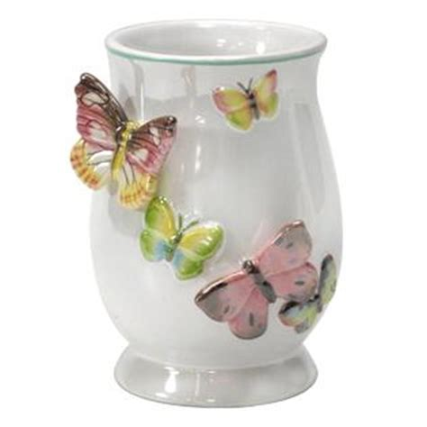 Essential Home Tahka Butterfly Tumbler Butterfly Bathroom Accessories