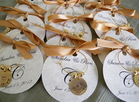 Customized Wedding Giveaways - wedding favors personalized wine charms custom words party