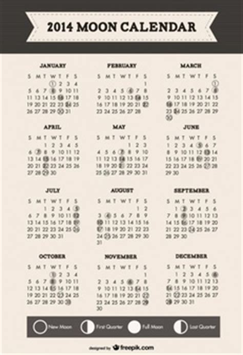 Calendar 5 Years Ago Simple Calendar For 2014 In Vector Free