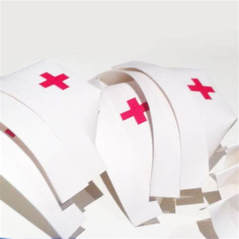 How To Make A Nurses Hat Out Of Paper - diy hats community helpers