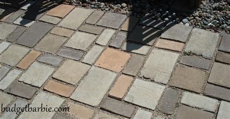 Patio Paver Molds Budget Our Patio Using Quikrete Walk Maker Mold To Form The Patio Pavers Updated