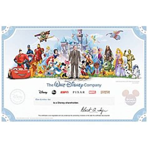 printable disney gift certificates disney selling collectible shareholder certificate