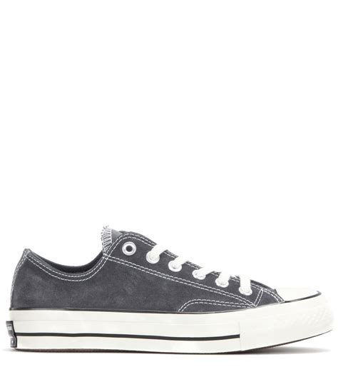 converse grey sneakers converse chuck all suede sneakers in gray lyst