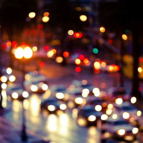 Lights In Vision by Blurry With Cars Wallpaper