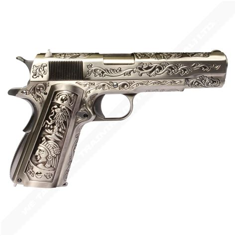 we 1911 custom engraved model silver we airsoft