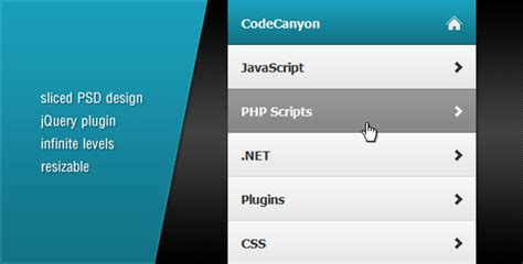 design menu using jquery 20 jquery side sliding panel plugins show hide for your
