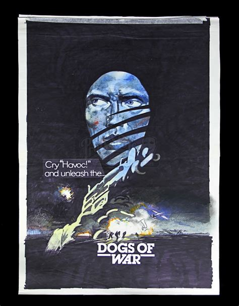The Dogs Of War the dogs of war 1980 vic fair u k painted prototype artwork and poster current