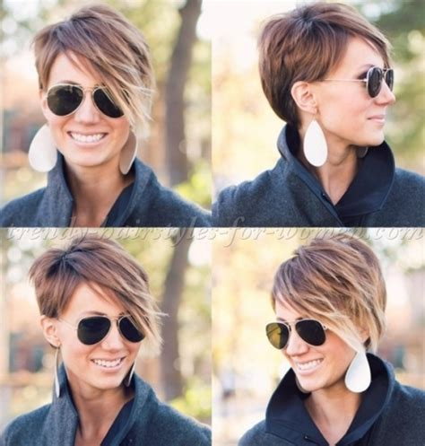 short hairstyles with long bangs   short haircut with long