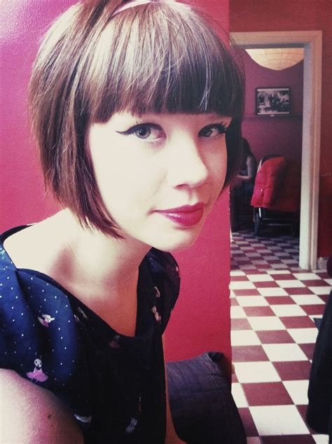 short haircut with full bangs long top tapered back 396 best hairstyles images on pinterest short fringe