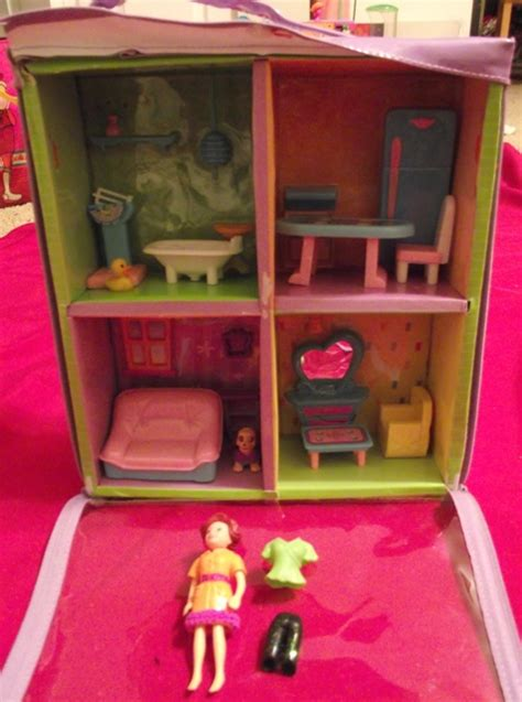 polly pocket doll house polly pocket portable house with polly pocket doll accessories in ashley marie s