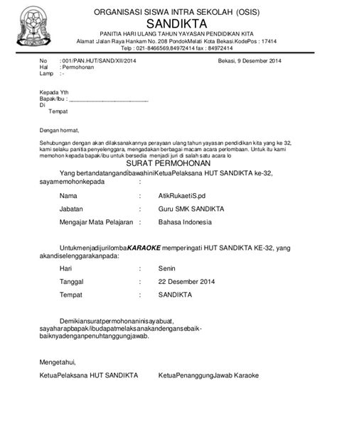contoh surat osis wisata dan info sumbar