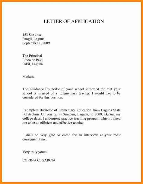 application letter for fresher 10 application letter for for fresher