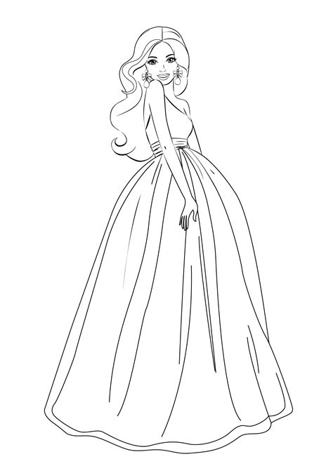 coloring pages pictures to print barbie coloring pages for girls free printable barbie