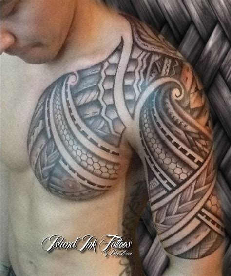 chest half sleeve tattoo designs 25 best ideas about tribal tattoos on