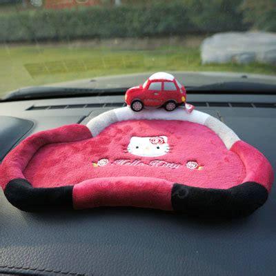 Hello 3d Car Dashboard Anti Slip Pink buy wholesale hello automobile non slip mat plush