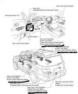 2002 toyota sequoia automatic door locks electrical problem 2002