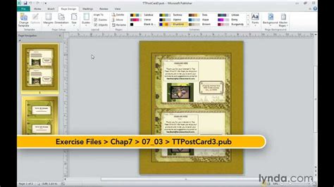 microsoft publisher how to change templates lynda com