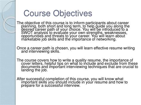 career planning objectives ppt career planning powerpoint presentation id 1271705