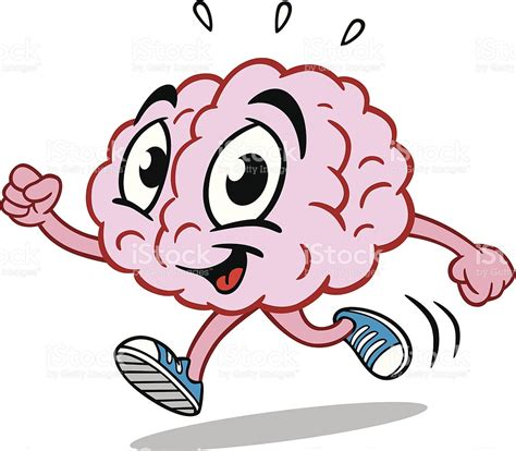 brain clipart running brain stock vector 167593378 istock