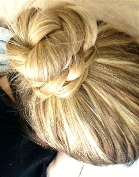 the knot so braided bun braided top knot bun hair love pinterest buns knot