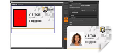 Visitor Id Card Template by Ict Visitor Management