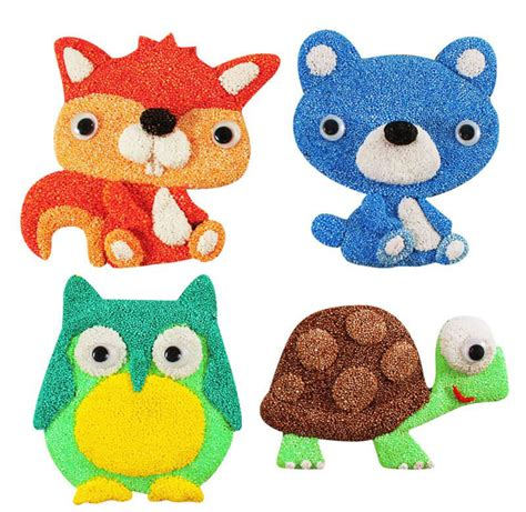 Animal Foam foam clay magnet kit animal set lb kidstore