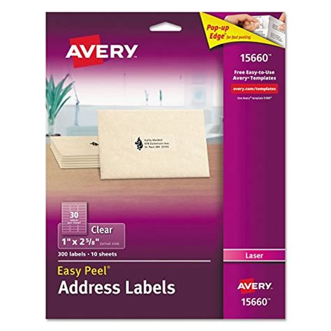 Avery 15660 Address Label Template