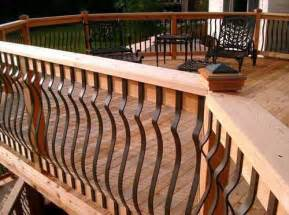 Deck Railing With Iron Spindles Building Porch Railing From 2x4s Studio Design