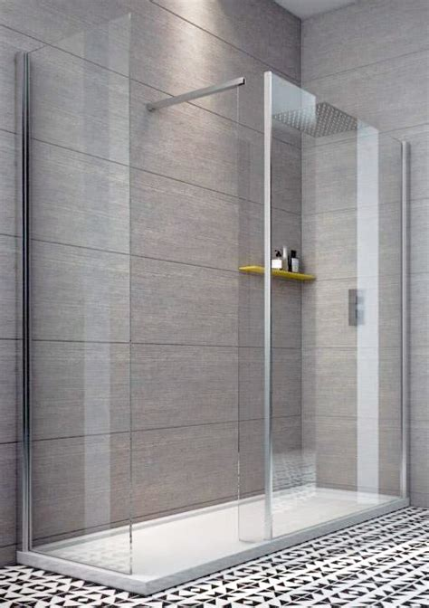 A 700 Shower by Indi 1600 X 700 8mm Walk In Shower Enclosure Inc Tray And