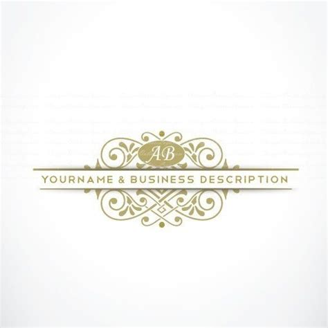 free elegant logo design design elegant initial alphabet logo free business card