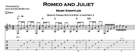 romeo and juliet theme tab mark knopfler romeo and juliet jerry s guitar bar