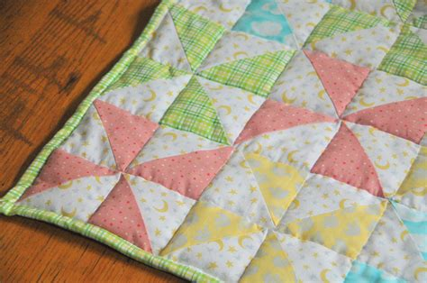 Baby Quilt Free Pattern by Striped Pinwheel Baby Quilt And Free Pattern Kiku Corner