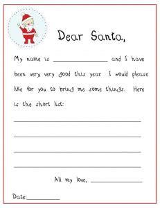 printable secret santa letters 5 best images of free printable santa wish list letters