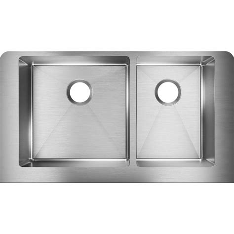 elkay crosstown apron sink elkay crosstown farmhouse apron front stainless steel 32