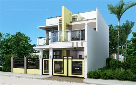 house design ideas prosperito single attached two story house design with