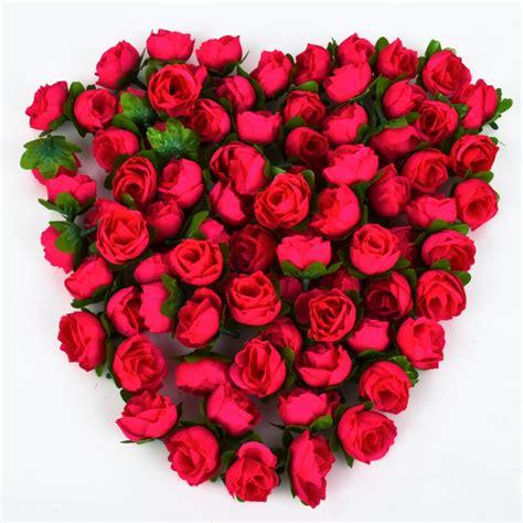 decorative flower 100pcs rose artificial silk flower heads wedding decoration craft optional color in decorative