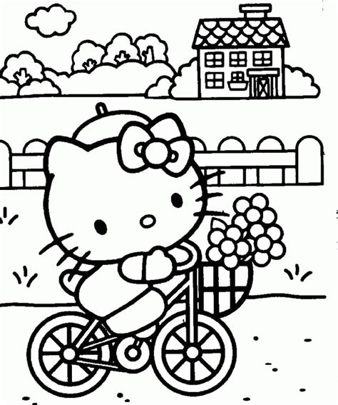 hello kitty coloring pages pdf hello kitty cycling coloring pages hello kitty cartoon