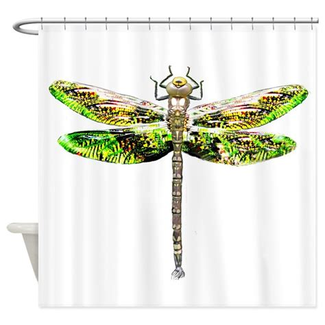 dragonfly curtains dragonfly shower curtain by tomconwayart