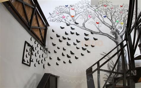 New Hiasan Dekorasi Pot Bunga Pohon Unik Murah diy dekorasi dinding berbentuk kupu kupu yang mudah dibuat