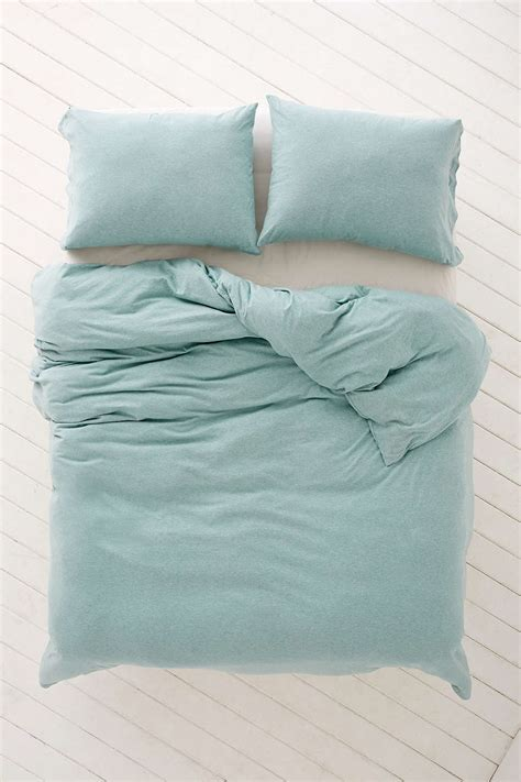 Turquoise Heathered Jersey Duvet Cover Everything Turquoise