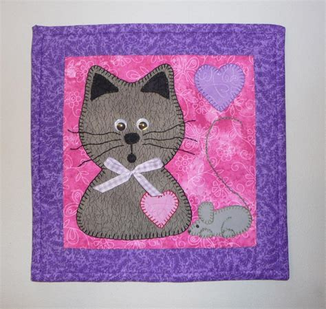 Applique Cat Quilt Patterns by Cat Mouse Mini By Sher S Patterns Quilting Pattern